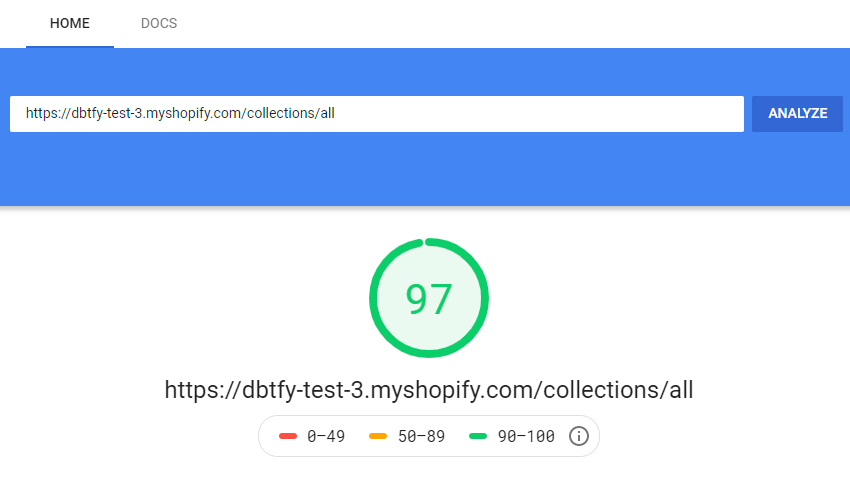 debutify theme speed